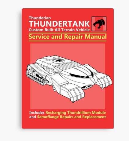 Thundertank Service and Repair Manual Canvas Print
