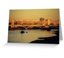 Battersea Sunset Greeting Card