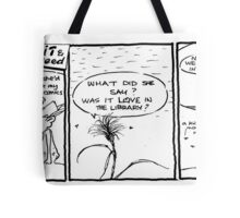 Life with Figit and the Weed. #40.Love in the Library. Tote Bag