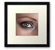 Beauty woman eye Framed Print