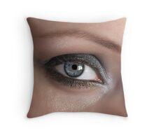 Beauty woman eye Throw Pillow