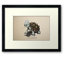 Man Tortoise Framed Print