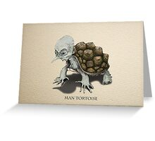 Man Tortoise Greeting Card