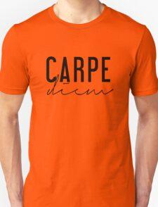 Carpe Diem - Seize the Day - Black and White T-Shirt