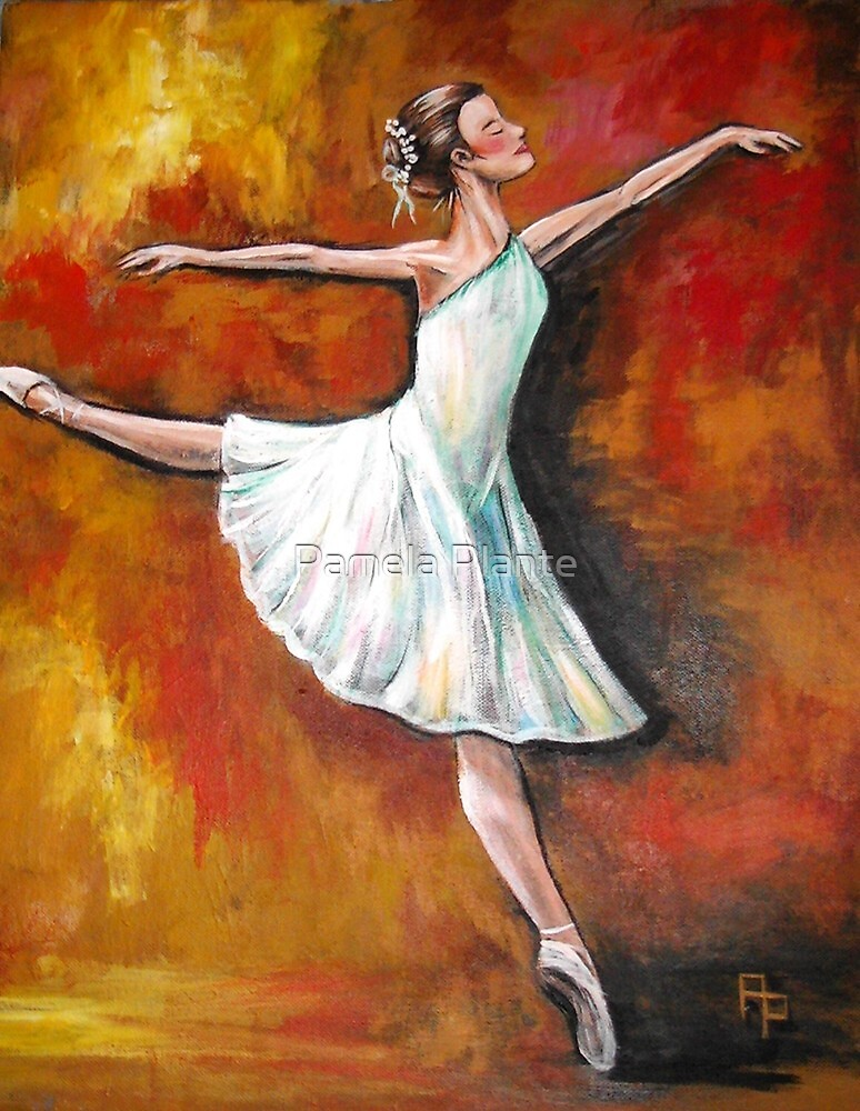 BALLERINA #3 series-After Degas by Pamela Plante