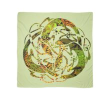 Lizards Mandala  - green & yellow Scarf