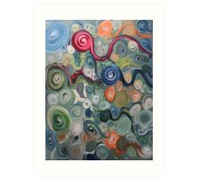 psychedelic sperm Art Print