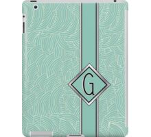 1920s Blue Deco Swing with Monogram letter G iPad Case/Skin