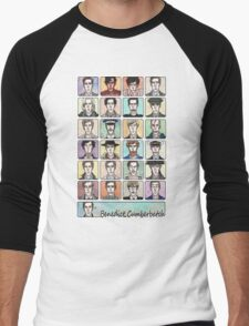 Benedict Cumberbatch Faces Men's Baseball ¾ T-Shirt