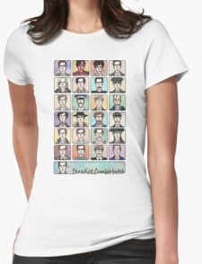 Benedict Cumberbatch Faces Womens Fitted T-Shirt