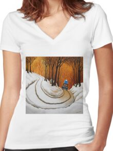 Going on Holiday Women's Fitted V-Neck T-Shirt