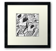 WORMS - DEAD CAT Framed Print