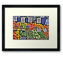 Market Fruit & Veggies Framed Print