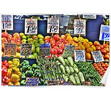 Market Fruit & Veggies Poster
