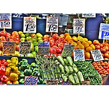 Market Fruit & Veggies Photographic Print