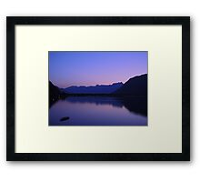 Zell Am See: Lone boat at Dusk Framed Print