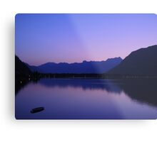 Zell Am See: Lone boat at Dusk Metal Print