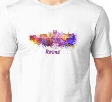 Reims skyline in watercolor Unisex T-Shirt