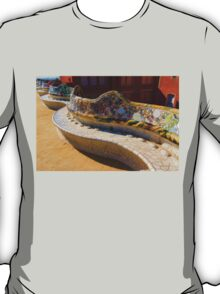 Gaudi's Park Guell Sinuous Curves - Impressions Of Barcelona T-Shirt