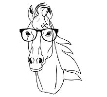 Hipster Horse Photographic Print