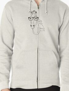Hipster Horse Zipped Hoodie