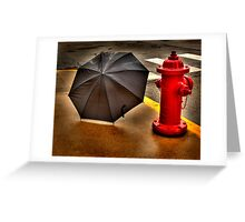 Wet and Wetter Greeting Card