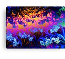 Fractal Sunset Canvas Print