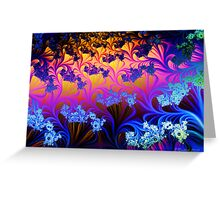 Fractal Sunset Greeting Card