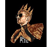 King Bill - White Text Photographic Print