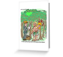 1st Census Takers by Londons Times Cartoons Greeting Card