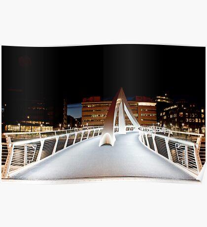 Glasgow squigly bridge Poster