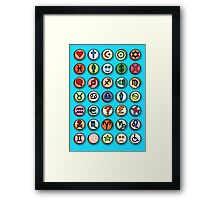 Emotion Pills Framed Print