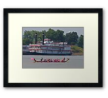 The Pink Canoe Framed Print