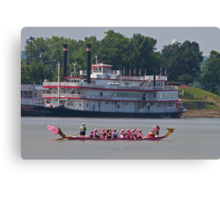 The Pink Canoe Canvas Print
