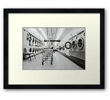 The Wash Nextdoor by Kordial Orange Framed Print