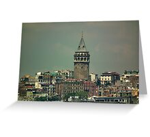 Galata Tower, Istanbul Greeting Card