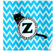 Z Cat Chevron Monogram Poster