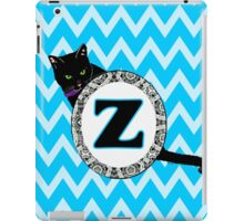 Z Cat Chevron Monogram iPad Case/Skin