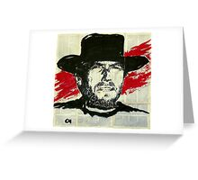 Clint Eastwood.  Greeting Card
