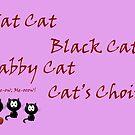 Cat's Choir Art card by sarnia2