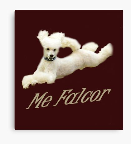 Me Falcor: Neverending Story Flying Poodle  Canvas Print