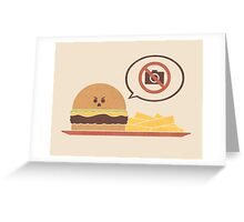 No Photography Allowed Greeting Card