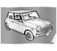 Mini Cooper Illustration Poster
