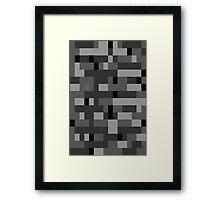 Bedrock minecraft Framed Print