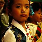 waiting. tibetan refugee girl. india by tim buckley | bodhiimages photography
