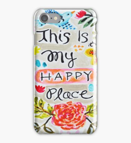 This is My Happy Place  iPhone Case/Skin
