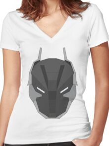 Arkham Knight Mask Women's Fitted V-Neck T-Shirt
