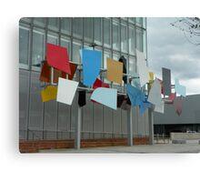 Coloured panel outside BBC Scotland Canvas Print