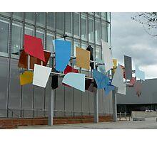 Coloured panel outside BBC Scotland Photographic Print