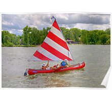 Afternoon Sailing the Canoe Poster